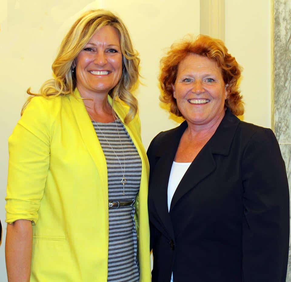 Kari W Block meets with Senator Heitkamp