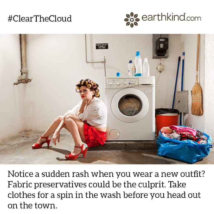 Wash Clothing Before Wearing to Get Rid of Chemicals #ClearTheCloud