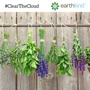 Hang Herbs to Dry Them #ClearTheCloud, earthkind