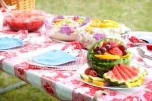 picnic table food