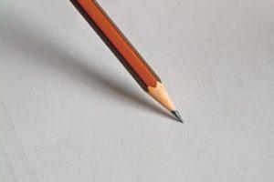 sharpened pencil