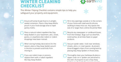 Winter-Tidying Checklist for Pest Prevention